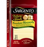 Sargento® Natural Blends® Sliced Provolone-Mozzarella Cheese