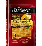 Sargento® Natural Blends® Sliced Colby-Pepper Jack Cheese