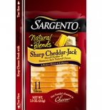 Sargento® Natural Blends® Sliced Sharp Cheddar-Jack Cheese