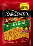 Sargento® Artisan Blends® Shredded Double Cheddar Cheese