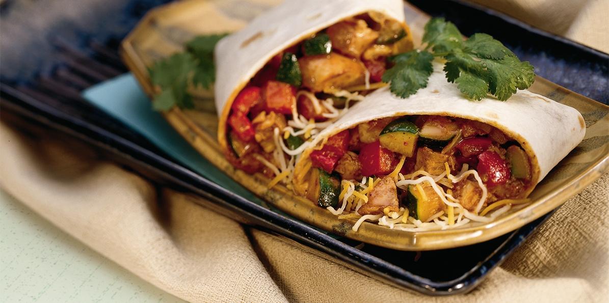 Chicken Molé Wraps
