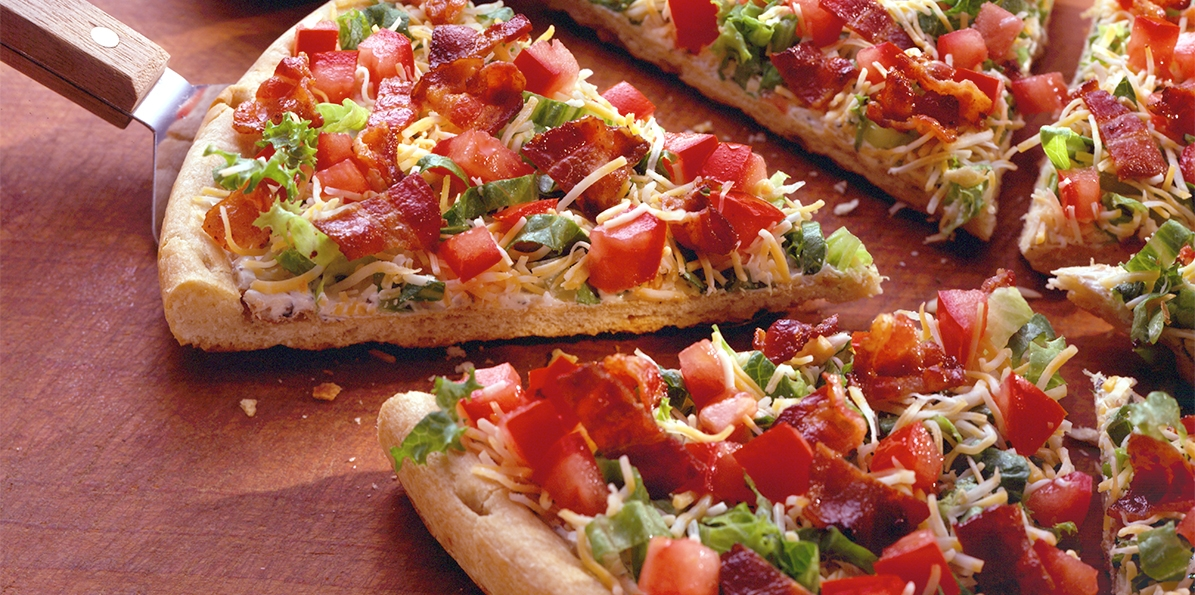 Cheesy BLT Pizza