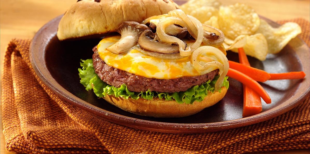 Smothered Mushroom Burgers