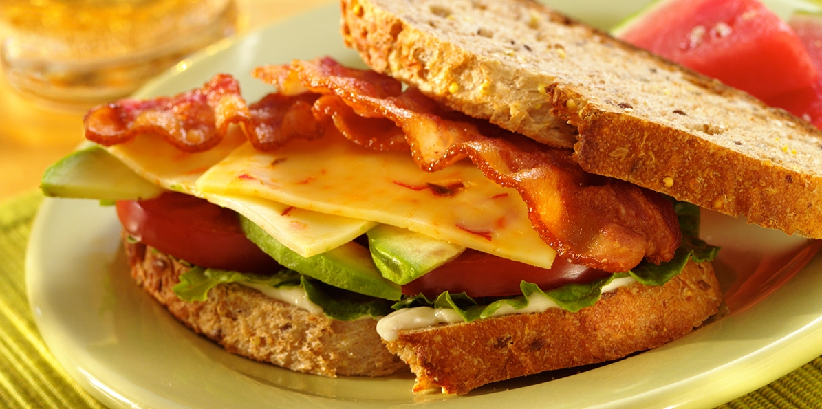 Pepper Jack Cheese, Avocado and Bacon Sandwich | Sargento