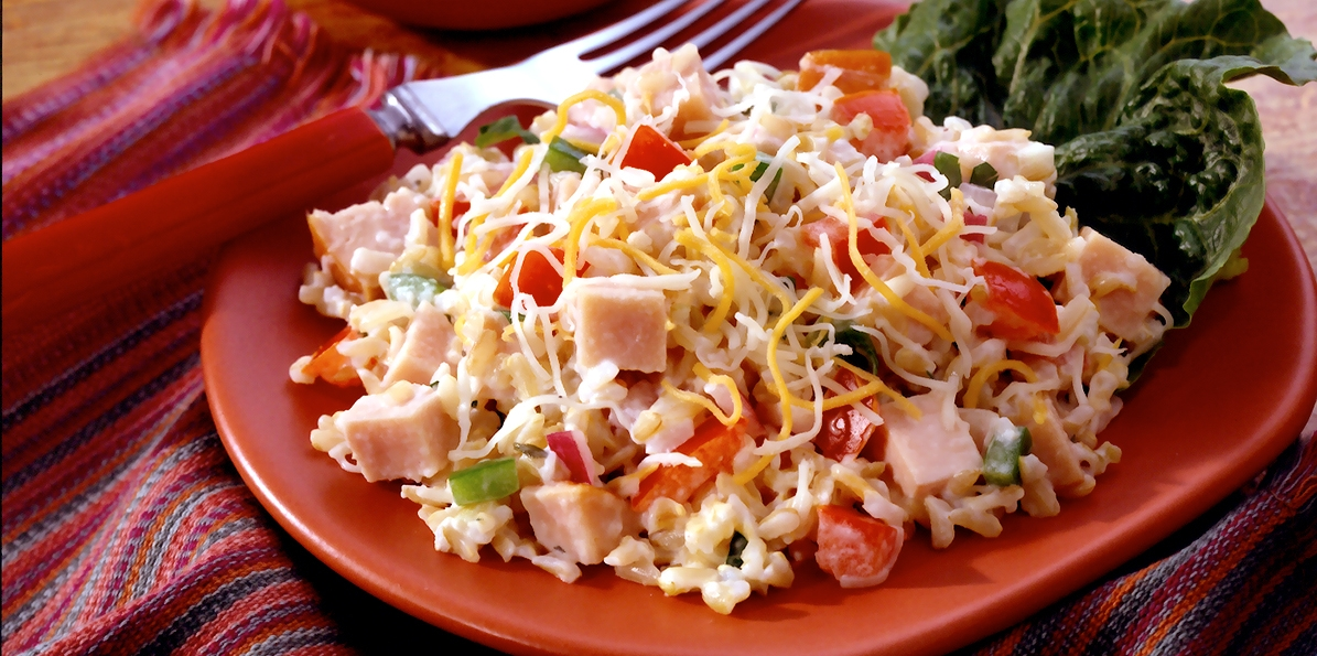 Turkey Rice Salad Recipe — Dishmaps