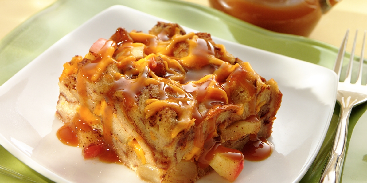 Apple & Cheddar Bread Pudding