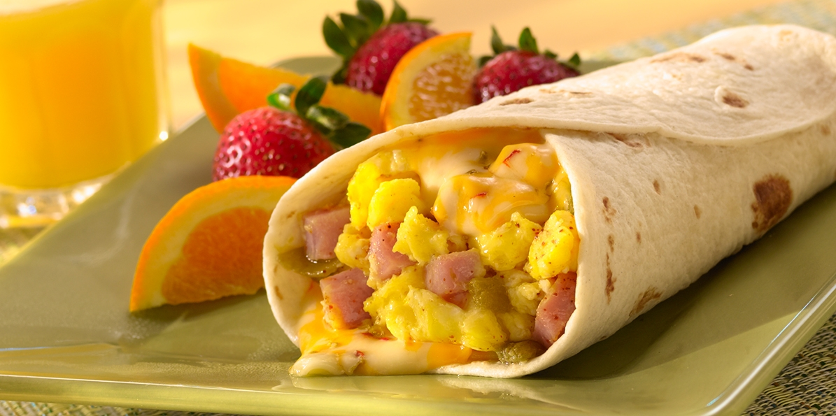 Scrambled Egg Green Chili Wrap | Sargento® Colby Jack Cheese